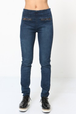 Jeans with zip