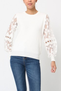 Jumper sleeve lace