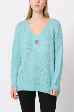 Jumper with étoile  strass