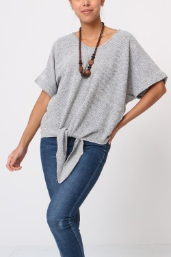 Top pull avec collier