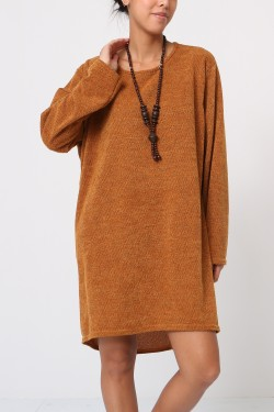Tunic pull with necklace