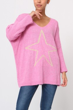 Jumper  wool oversize with étoile