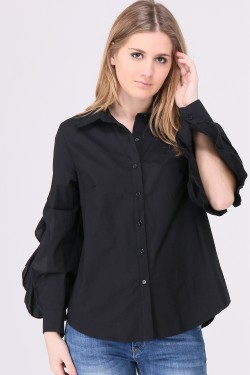 Shirt sleeves ajourées
