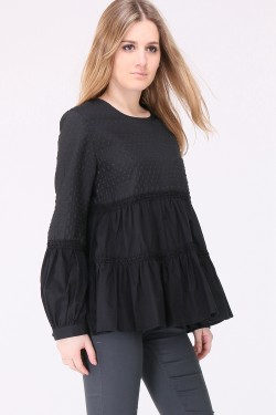 Blouse with volant